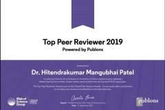 Top Peer Reviewer 2019